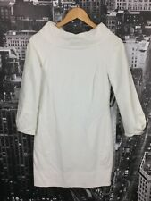 Cue Dress, Size 6, White, Long Bell Sleeves, Short Length, Cotton Blend