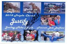 "Triple Crown  Winner ""Justify"" Jockey Mike Smith Autograph  4x6 Photo Collage"