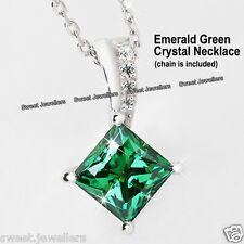 925er Silber Smaragd Grün Kristall Halsband Weihnachtsgeschenk Geschenke für Sie