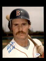Wade Boggs PSA DNA Coa Hand Signed 8x10 Photo Red Sox Autograph