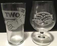 TWO ROADS BREWING Pint Glass And Snifter