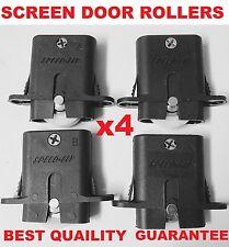 4 x Sliding Security Screen Door Rollers Wheels Best quailty free postage
