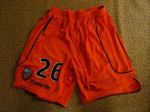 Short FC Lorient Porté Match #26 Macron Vintage Orange Football soccer - M