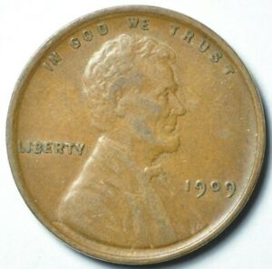 1909 VDB Lincoln Wheat Cent Penny 1c Extra Fine XF
