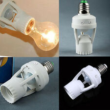Infrared PIR Motion Sensor E27 LED Light Lamp Bulb Holder Socket Switch 110/240V