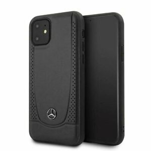 Mercedes-Benz® Real Leather Urban Collection Case for iPhone 11 Black