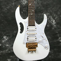 Jem Serise 7V Electric Guitar White Color Gold Hardware Floyd Rose Bridge
