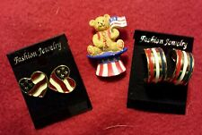 Independence Day Jewelry Lot #2 Avon American Glory~Teddy Bear