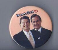 "RONALD REAGAN--GEORGE BUSH 1984 3"" CAMPAIGN PIN VINTAGE"