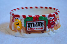 Porcelain Department 56 M&M Candy Store Christmas Holiday Candy Dish
