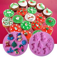 3D Christmas Silicone Fondant Mould Cake Chocolate Baking Mold Sugarcraft Tools