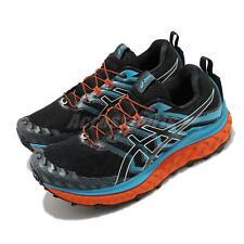 Asics Trabuco Max Black Digital Aqua Orange Men Trail Running Shoes 1011B028-003