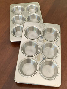 2 FARBERWARE CLASSIC SERIES 18/10 Stainless MUFFIN PANS Baking