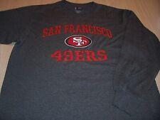 NFL TEAM APPAREL SAN FRANCISCO 49ERS LS GRAY T-SHIRT MENS LARGE EXCELLENT