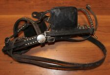 Leather Horse Harness Driving Blinkers/ Winkers with Hardware