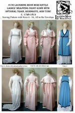 Ladies' Regency Wrapping Front Gown Dress Frock Sewing Pattern Only Lmm130
