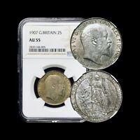 1907 Great Britain Florin - NGC AU55 Silver (Top 20 Pop)