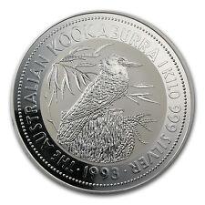 1993 Australia 1 kilo Silver Kookaburra BU - SKU #14728