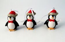 Ceramic Hanging Penguin Christmas Tree Decorations