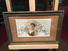 "Turn Of The Century A. DAVIS & SONS Co. ""Miss Woodford"" Cigar Framed Paper Ad"