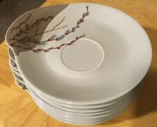 Willard George Pussy Willow Saucers/Dessert Plates