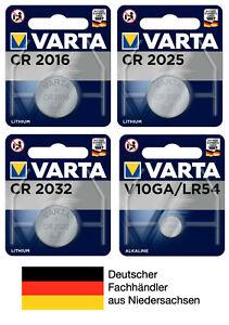 Varta Knopfzellen CR2016 CR2025 CR2032 V10GA LR54 Batterien neueste Produktion
