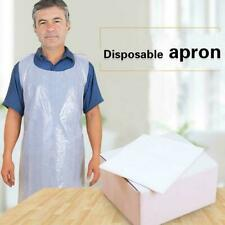 Plastic Aprons High Density Polythene White Flat Pack Roll Disposable T6H1