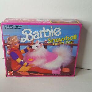 Vintage 1990 Barbie Snowball Pet Dog Mattel 7272 NRFB New Sealed Box