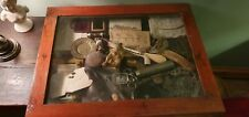 Unusual, Wierd Cabinet Of Curiosities Antiques  Rarities  bone, medical buddah