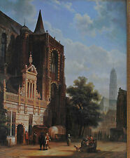 FABULOUS, ORIGINAL DAVID RONALD OIL PAINTING ON BOARD, DUTCH STREET SCENE
