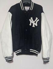 Majestic New York Yankees Letterman Wool Leather Varsity Jacket Size M