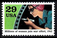USA postfrisch MNH War effort Weltkrieg 2 Arbeit Schlagschrauber 1942 / 48