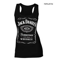 Official Skinny Tank Jack Daniels Black Classic No. 7 Logo VEST Top All Sizes