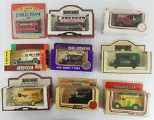 Bundle of 9 x Assorted Diecast Model Cars. Days Gone/Cadburys/Tesco Boxed 1980s