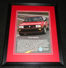1986 Volkswagen VW Golf GT Framed 11x14 ORIGINAL Vintage Advertisement