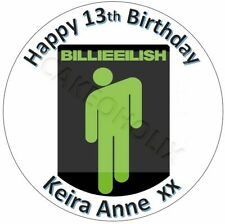 Billie Eilish Edible Cake Topper With Your Own Personalised Message