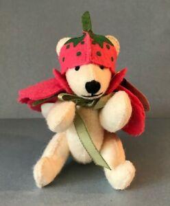 Vintage Nabco Mini 1994 Petal Pushers Rose Plush 3209 Stuffed Animal Teddy Bear
