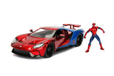 Ford GT with Spider-Man™ figure (2017, 1/24, diecast model car, Red/Blue)