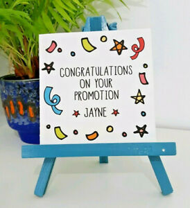 PERSONALISED Handmade Congratulations on your Promotion New Job Card