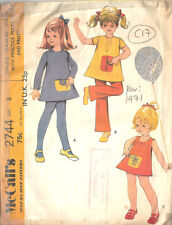 """1971 Kinder Vintage Nähen Muster S5 B24 """" Kleid & Hose (c17)"""