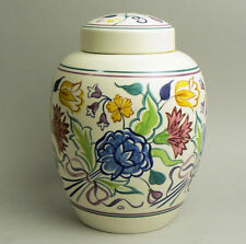 Grand Poole peint à la main poterie design classique Ginger Jar & Cover C.1999