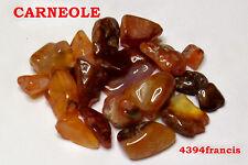 CARNEOLE - CARNEOOL - Lot 21 Pierres roulées Naturelles - Calcédoine ORANGE