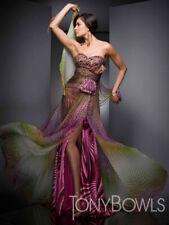 Tony Bowls Evenings Prom Dress TBE21033 Purple/Multi Size 12 NWT