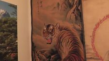 japanese chinese tiger scroll japan china