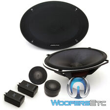 "ALPINE X-S69C 6""X9"" LOUD 360W TYPE-X COMPONENT SPEAKERS CROSSOVERS TWEETERS NEW"