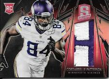 2013 Panini Spectra Red #204 Cordarrelle Patterson 2 Color Rookie Patch #10/25