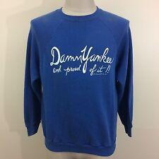 VTG 80s Damn Yankee & Proud Of It 50/50 Sportswear Sweatshirt S/M Shirt Liberal