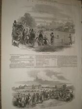 Horse racing at Chantilly France 1847 prints ref AW