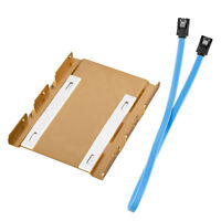 "2.5"" to 3.5"" SSD HDD Hard Drive Aluminum Mount Adapter Bracket Frame SATA Cable"