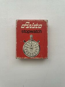 Vtg Aristo 10 Stopwatch Mechanical Wind Up Shock Resistant Swiss Made - Working!